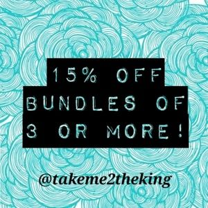 15% off bundles!!!